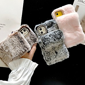 cheap iPhone Cases-Case For Apple iPhone 11 / iPhone 11 Pro / iPhone 11 Pro Max Ring Holder / DIY Back Cover Plush Textile