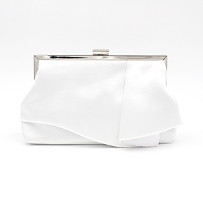 cheap Women's Heels-Women's Bags Polyester / Alloy Evening Bag for Wedding / Party / Event / Party White / Black / Wedding Bags