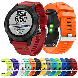 cheap Smartwatch Bands-Smartwatch Band for Garmin Fenix 6 / 5 Plus / 5 Sport Band Soft Comfortable Silicone QuickFit Wrist Strap 22mm