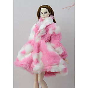 cheap Dolls Accessories-Doll accessories Doll Clothes Doll Dress Doll Outfit Doll Coat Wedding Dress Coats / Jackets Party / Evening Wedding Ball Gown Nonwoven Fabric Tulle Lace Cotton Cloth Polyester Coral fleece For 11.5