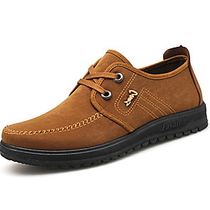 cheap Men's Oxfords-Men's Derby Shoes Winter Casual / British Daily Oxfords PU Non-slipping Wear Proof Light Brown / Dark Brown / Black Slogan
