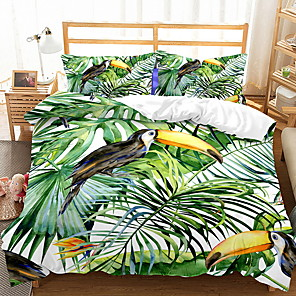 cheap Contemporary Duvet Covers-Duvet Cover Sets Trees / Leaves Polyester / Polyamide Printed 3 PieceBedding Sets