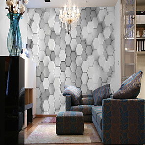 cheap Wallpaper-Wallpaper / Mural / Wall Cloth Canvas Wall Covering - Adhesive required Art Deco / Pattern / 3D