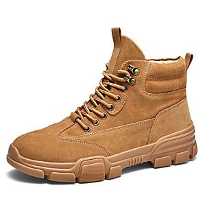 cheap Men's Boots-Men's Combat Boots PU Winter Boots Khaki / Black / Beige / Outdoor
