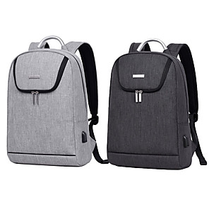 cheap Laptop Bags & Backpacks-11.6 Inch Laptop / 12 Inch Laptop / 13.3 Inch Laptop Commuter Backpacks Polyester / Canvas Plain / Fashion for Business Office for Colleages & Schools for Travel Water Proof Shock Proof with USB