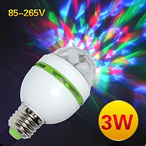 cheap Stage Lights-YWXLight® Rotating Stage Light RGB Crystal LED Ball Light E27 Night Light AC 85-265V