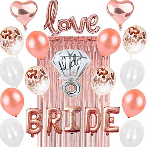 cheap Christmas Decorations-Birthday Decorations, Rose Gold Birthday Party Decorations Party Supplies Birthday Balloons Confetti with Happy Birthday Balloons Banner for Women Mom