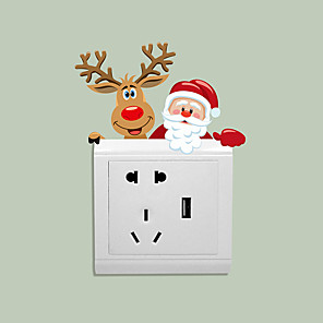 cheap Wall Stickers-Light Switch Stickers - Animal Wall Stickers / Holiday Wall Stickers Animals Living Room / Kids Room