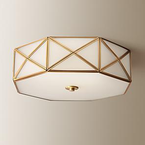 cheap Lantern Design-4-Light All-copper American Ceiling Lamp Rural Household Modern Simple Living Room Lamp Study Lamp Bedroom Lamp 1248-4