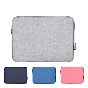 cheap Sleeves,Cases & Covers-11.6 Inch Laptop / 12 Inch Laptop / 13.3 Inch Laptop Sleeve Polyester / Canvas Solid Colored for Men for Women for Business Office Water Proof Shock Proof