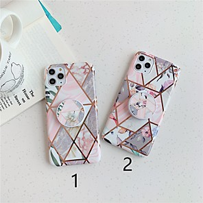 cheap iPhone Cases-Case For Apple iPhone 11 / iPhone 11 Pro / iPhone 11 Pro Max with Stand / Plating / Pattern Back Cover Marble TPU X XS XSmax XR 8 8plus 7 7plus 6 6S 6plus 6Splus