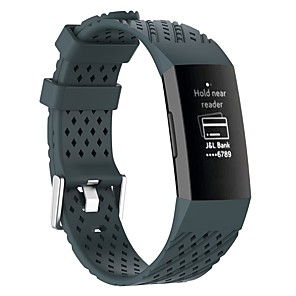 cheap Smartwatch Bands-Watch Band for Fitbit Charge 3 / Fitbit Charge 4 Fitbit Sport Band / Modern Buckle Silicone Wrist Strap