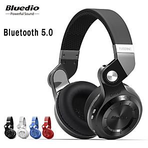 cheap On-ear & Over-ear Headphones-Bluedio T2S Bluetooth 5.0 Stereo Over-ear Headphones with Microphone Wireless Headset Bluetooth Fodable for Iphone Samsung Xiaomi Headphone