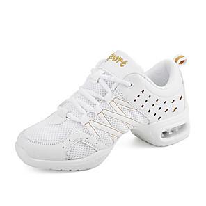 cheap Dance Sneakers-Women's Dance Shoes Mesh Dance Sneakers Sneaker Flat Heel Black / White