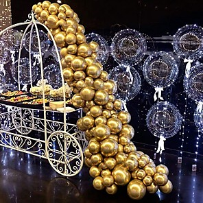 cheap Christmas Decorations-Metallic Chrome Helium Shiny Latex Thicken Balloon Perfect Decoration for Wedding Birthday Baby Shower Graduation Christmas Carnival Party Supplies Gold