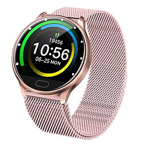 cheap Smartwatches-Smartwatch Digital Modern Style Sporty Silicone 30 m Water Resistant / Waterproof Heart Rate Monitor Bluetooth Digital Casual Outdoor - Black White Gold