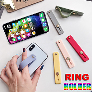 cheap Phone Mounts & Holders-Finger Ring Holder Silicon Phone Hand Band Holder For iPhone Wristband Strap Push Pull Grip Stand Bracket Wholesale