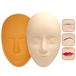 cheap Professional Tattoo Kits-5D Facial Tattoo Training Head Silicone Practice Permanent Makeup Tattoo Mannequin Makeup Tool