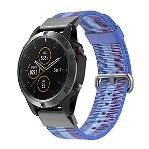 cheap Smartwatch Bands-Woven Nylon Watch Band For Garmin Fenix 6 Pro / Fenix 5 Plus / Approach S60 / Forerunner 935 / Quatix5 Sapphire Quick Release Easy fit Bracelet Wrist Strap Wristband