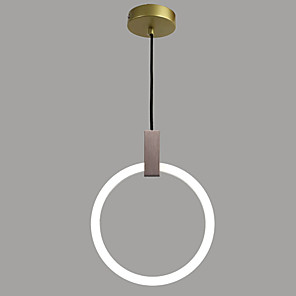 cheap Island Lights-1-Light QINGMING® 40 cm Mini Style Chandelier Metal Circle / Mini Electroplated Modern 110-120V / 220-240V