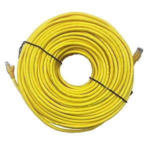 cheap Ethernet Cable-20M Yellow External Network Ethernet Cable CAT5e 100% Copper RJ45 TOP quality mar24