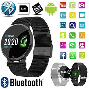 cheap Smartwatches-Smartwatch Digital Modern Style Sporty Silicone 30 m Water Resistant / Waterproof Heart Rate Monitor Bluetooth Digital Casual Outdoor - Black Brown Black / Gray