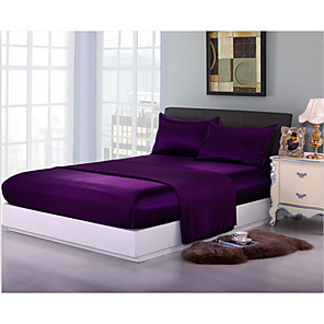 cheap Solid Duvet Covers-Duvet Cover Sets Solid Colored Polyester / Polyamide Reactive Print 3 PieceBedding Sets