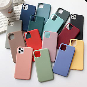cheap iPhone Cases-Case For Apple iPhone 11 / iPhone 11 Pro / iPhone 11 Pro Max Ultra-thin Back Cover Solid Colored TPU X XS XSmax XR 6 6s 6splus 6plus 7 7plus 8 8plus