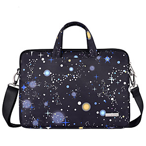 cheap Sleeves,Cases & Covers-13.3 Inch Laptop / 14 Inch Laptop / 15.6 Inch Laptop Shoulder Messenger Bag / Briefcase Handbags Polyester Galaxy for Men for Women for Business Office Water Proof Shock Proof