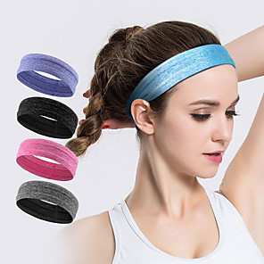 cheap Abstract Paintings-AOLIKES Sweatband HeadBand 1 pcs Sports Polyester Silica Gel Running Exercise & Fitness Gym Workout Anti Slip High Elasticity Moisture Wicking Quick Dry Sweat Control For Men Women
