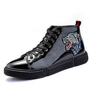 cheap Men's Sneakers-Men's Comfort Shoes PU Spring & Summer / Fall & Winter Casual / British Sneakers Walking Shoes Non-slipping Orange / Black / Black / Black / Blue