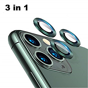 cheap iPhone Screen Protectors-Back Aluminum Alloy Tempered Glass Lens Protector for iPhone 11 Pro / 11 Pro Max