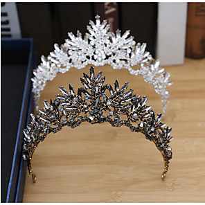 cheap Makeup Brush Sets-Tiaras Wreaths Crown Masquerade Retro Vintage Gothic Alloy For Black Swan Cosplay Halloween Carnival Women's Costume Jewelry Fashion Jewelry