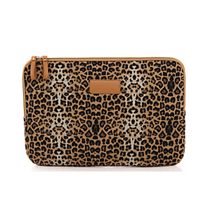 cheap Sleeves,Cases & Covers-11.6 12 13.3 14.1 15.6 inch Universal Leopard print Canvas Water-resistant Shock Proof Laptop Sleeve Case Bag for Macbook/Surface/Xiaomi/HP/Dell/Samsung/Sony Etc