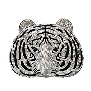 cheap Clutches & Evening Bags-Women's Crystals / Hollow-out Alloy Evening Bag Animal Gold / Silver