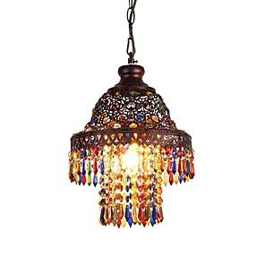 cheap Candle-Style Design-1-Light QIHengZhaoMing 25 cm Chandelier Metal Vintage 110-120V / 220-240V