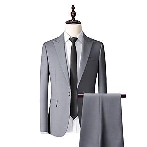 cheap Custom Tuxedo-Smoke gray custom suit