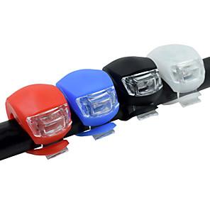 cheap Bike Lights & Reflectors-LED Bike Light Front Bike Light Rear Bike Tail Light Silicone Bike Light Mountain Bike MTB Bicycle Cycling Safety Clip Small Pocket Cell Batteries Battery Cycling / Bike Multifunction / IPX-4