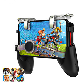 cheap Smartphone Game Accessories-DATA FROG Game Controller For PUBG Mobile Trigger Aim Button L1R1 For Iphone Xiaomi Huawei Gamepad Joysticks Shooter For PUBG