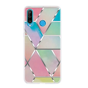 cheap Phone Mounts & Holders-Case For Huawei P20 Pro/P20 lite/P30 Ultra-thin / Pattern Back Cover Geometric Pattern / Marble TPU For Huawei P30 Lite/P30 Pro/P Smart Z/P Smart Plus/P Smart 2019/P8 Lite 2017/P10 Lite