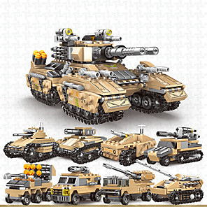cheap Building Blocks-Building Blocks Military Blocks Vehicle Playset Educational Toy Construction Set Toys 800+ Military compatible ABS+PC Legoing Simulation Military Vehicle All Toy Gift / Kid's