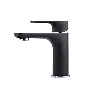 cheap Bathroom Sink Faucets-Bathroom Sink Faucet - Widespread Black Centerset Single Handle One HoleBath Taps
