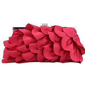cheap Clutches & Evening Bags-Women's Sashes / Ribbons / Flower Silk Evening Bag Solid Color Red / Gray