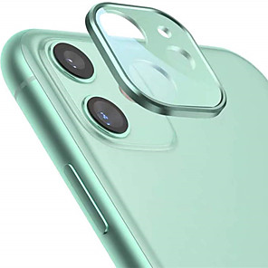 cheap iPhone Screen Protectors-Metal Edge Tempered Glass Camera Lens Protector for iPhone 11