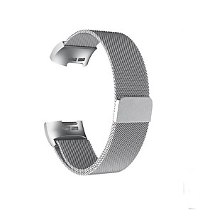 cheap Smartwatch Bands-Watch Band for Fitbit Charge 3 Fitbit Milanese Loop Stainless Steel Wrist Strap L(235mm)  S(1998mm)