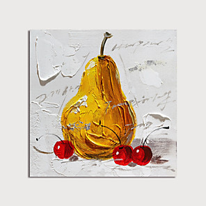 cheap Still Life Paintings-Oil Painting Hand Painted - Still Life Modern Stretched Canvas