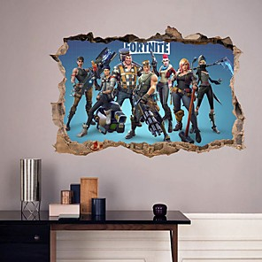cheap Wall Stickers-FORTNITE Decorative Wall Stickers - Plane Wall Stickers / Blackboard Wall Stickers Shapes Bedroom / Study Room / Office