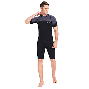 cheap Wetsuits, Diving Suits & Rash Guard Shirts-YON SUB Men's Shorty Wetsuit 3mm Neoprene Diving Suit Thermal / Warm Short Sleeve Back Zip - Swimming Diving Spring Summer Fall