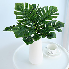 cheap Artificial Plants-Large Leaf Shaped Turtle Leaves Plants Artificial Tree PlantsHome Decoration
