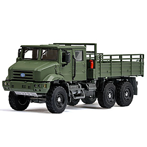 cheap Toy Cars-1:36 Toy Car Vehicles Truck Chariot Truck Construction Truck Set Military Vehicle Special Designed Glow Parent-Child Interaction Zinc Alloy Rubber ABS+PC Mini Car Vehicles Toys for Party Favor or